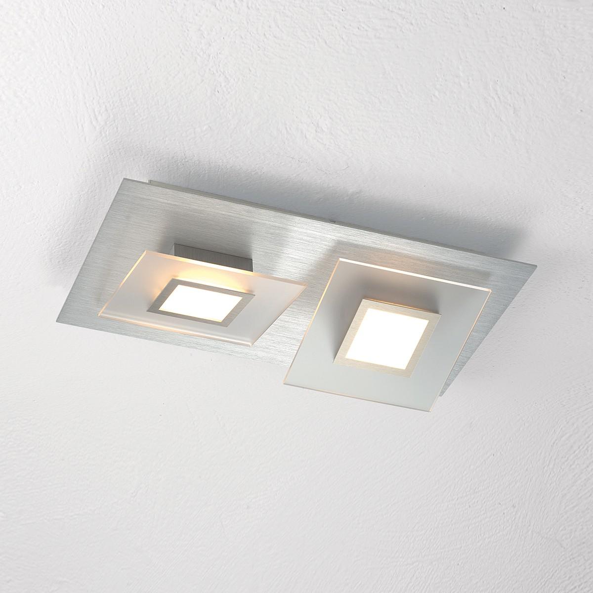 Bopp Frame LED Wand- / Deckenleuchte 2-flg., Aluminium