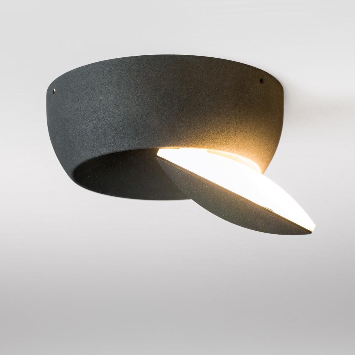 Lupia Licht Moon Wand- / Deckenleuchte, schwarz
