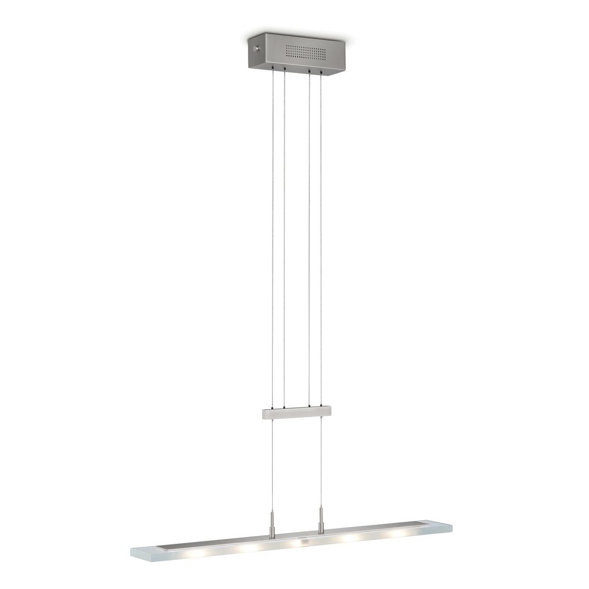 Knapstein 51.45x Pendelleuchte, Länge: 70 cm, Nickel matt