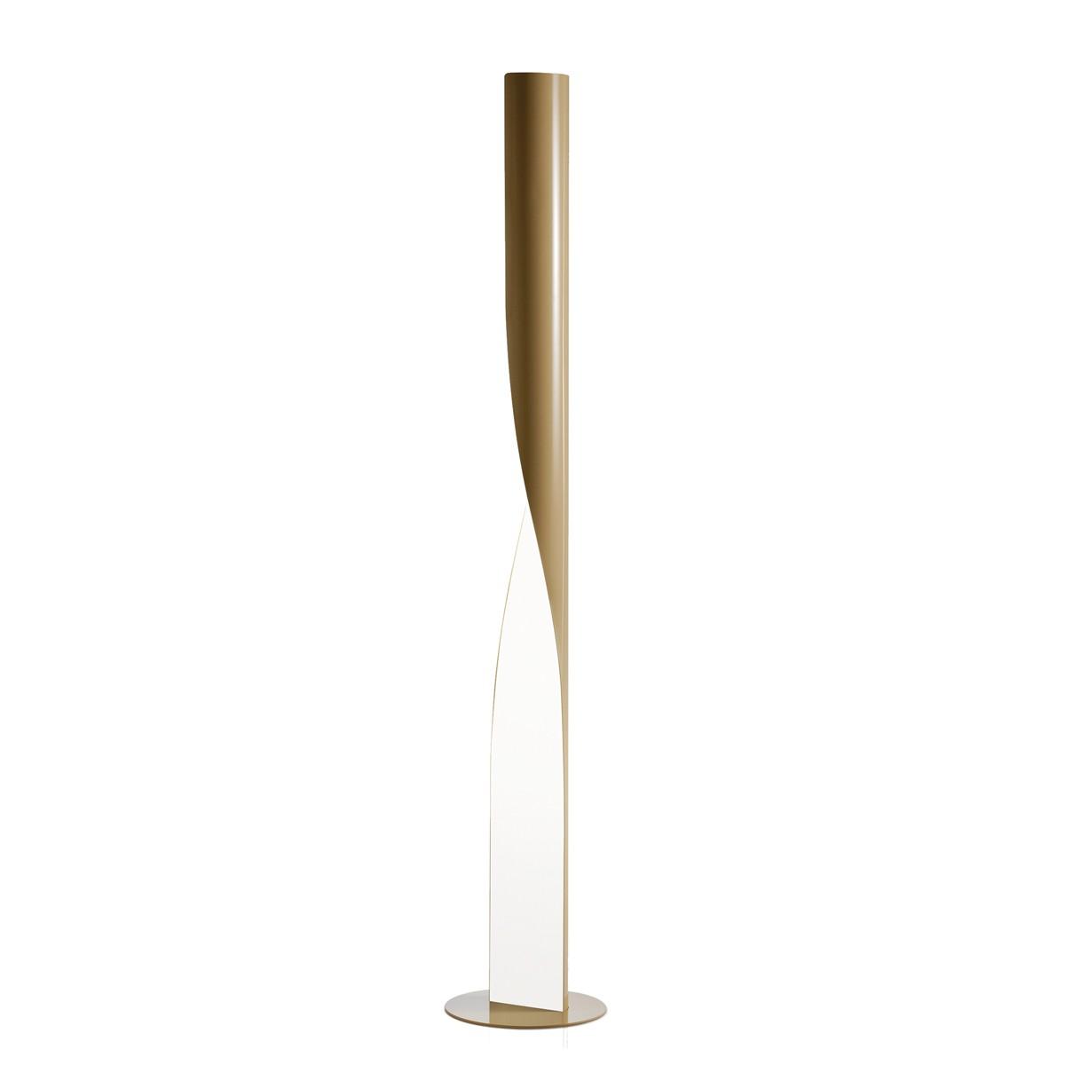 Kundalini Evita LED Stehleuchte, beige glänzend