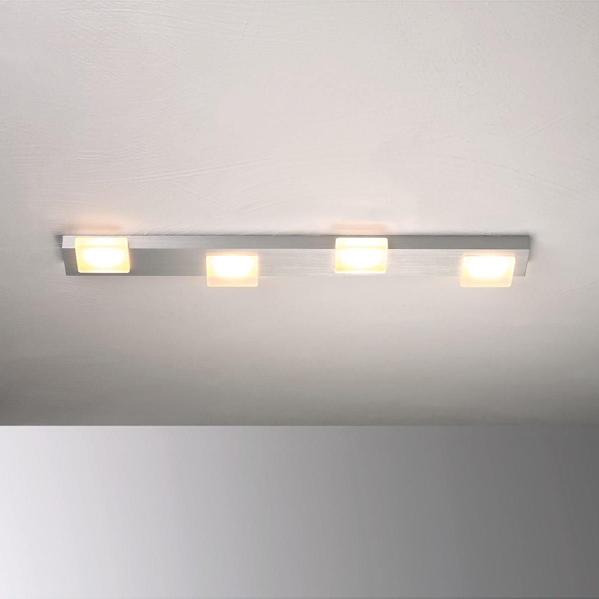 Bopp Lamina LED Deckenleuchte 4-flg., Aluminium geschliffen
