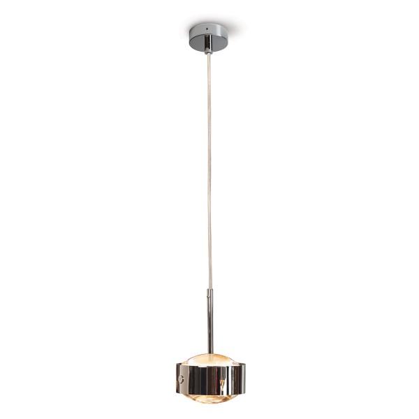 Top Light Puk Maxx Drop Solo LED Pendelleuchte, Chrom, Linse klar