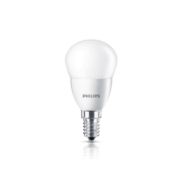 Philips LED Tropfen E14 4 W, warmweiß, matt