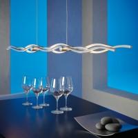 Escale Silk Pendelleuchte, Länge: 157 cm, Aluminium geschliffen