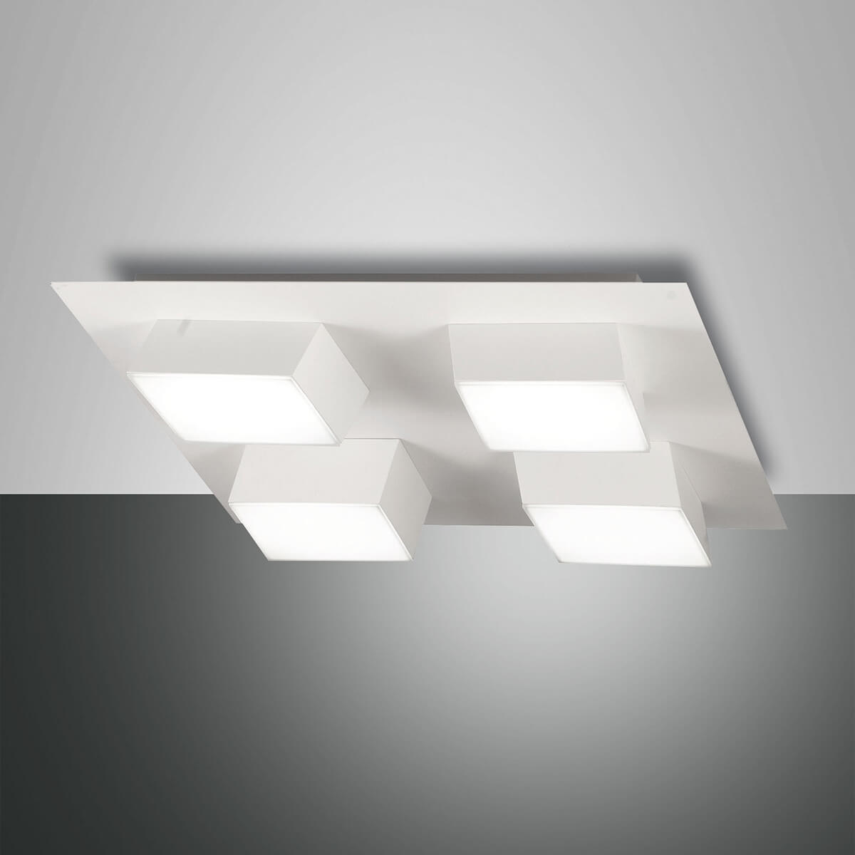 Fabas Luce Lucas LED Deckenleuchte, 4-flg. 3601-84-102
