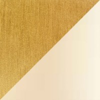 6110 Stehleuchte, Messing poliert / matt, Chintz champagner