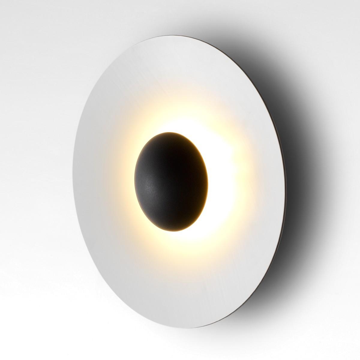 Marset Ginger 60 C LED Wandleuchte, Rückseite: Eiche, Front: weiß