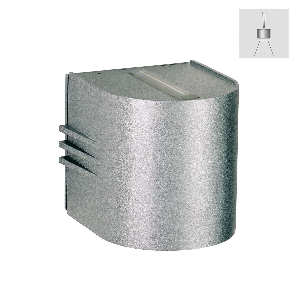 Albert 2307 Wandstrahler, eng/breit, Silber