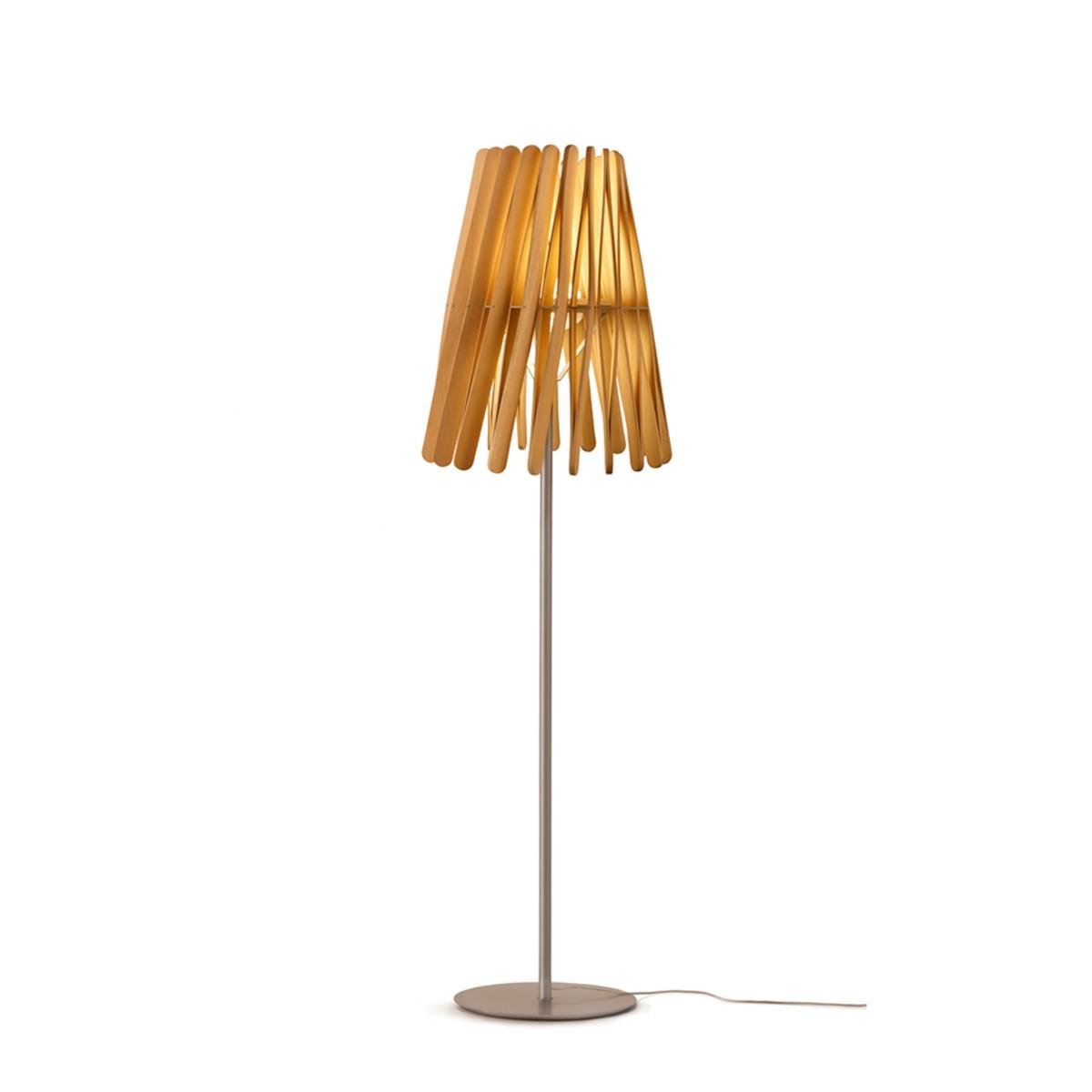 Fabbian Stick Cono Stehleuchte LED (Platine), Holz