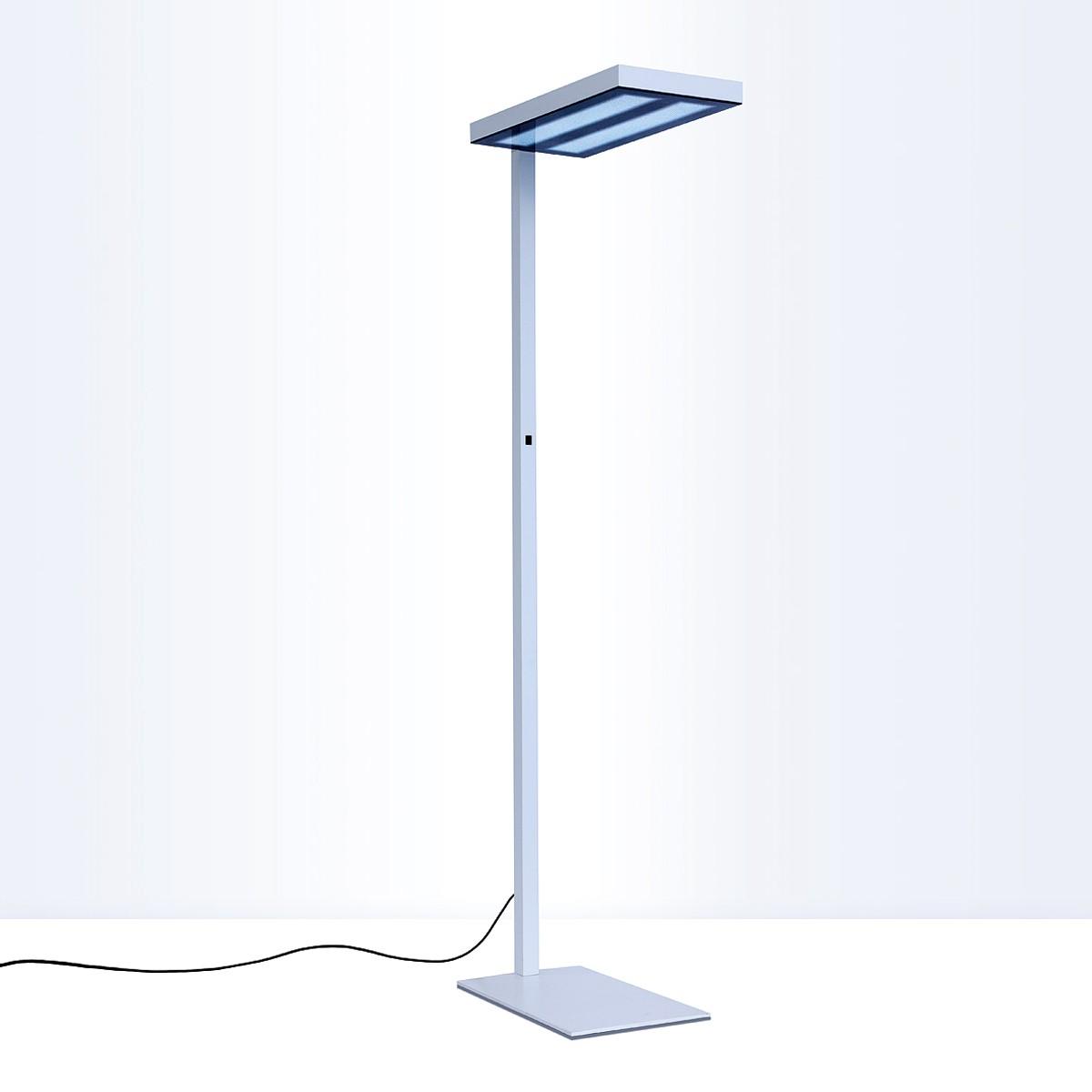 Lightnet Nomic-S Stehleuchte, Floatglas, Switch & Dim, 3000K, Aluminium natureloxiert