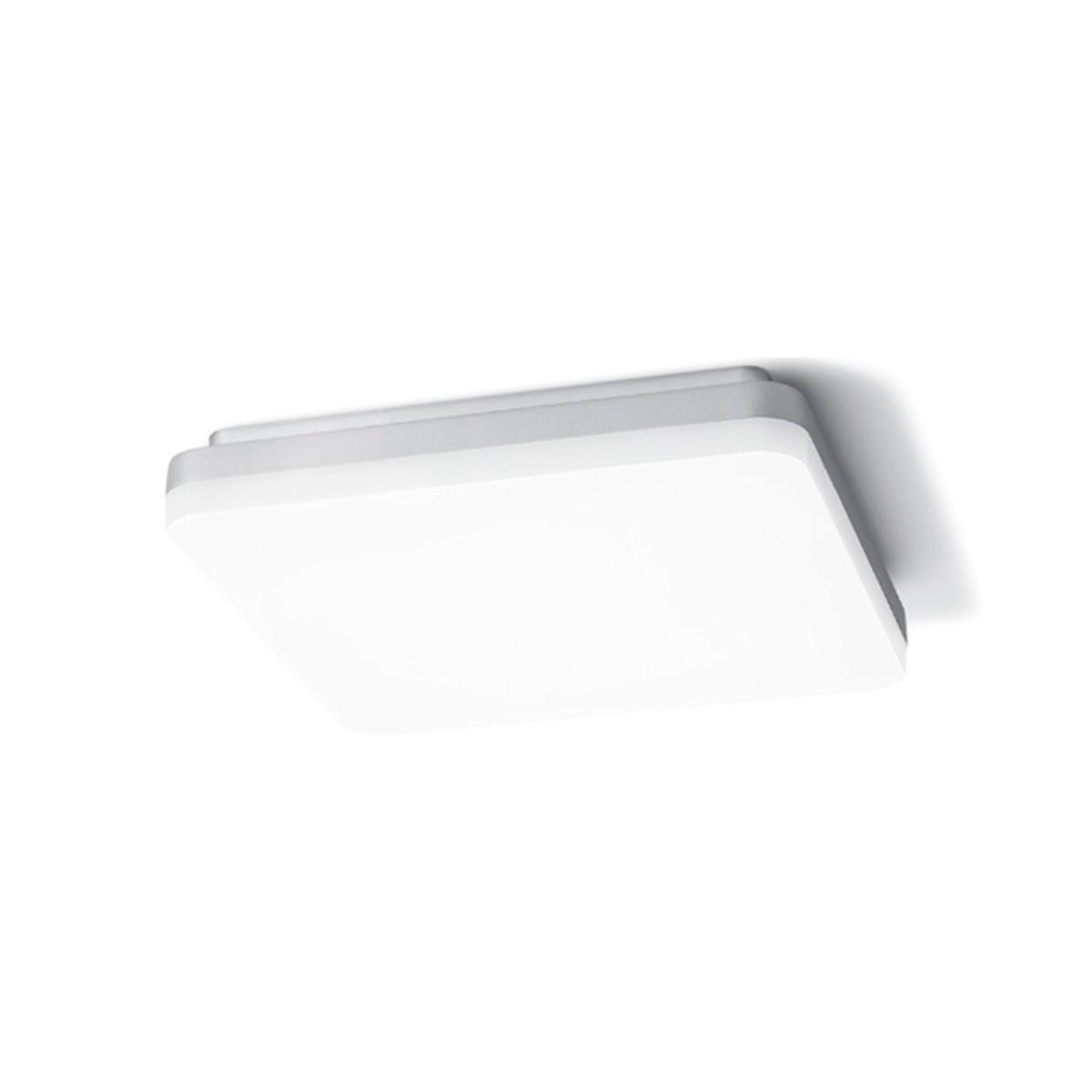Sigor Square LED Deckenleuchte, 4000 K, 26 x 26 cm, Silber