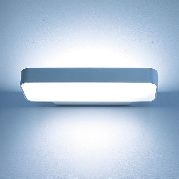Lightnet Caleo-W3 Wandleuchte, Mikroprismatik, Silber matt