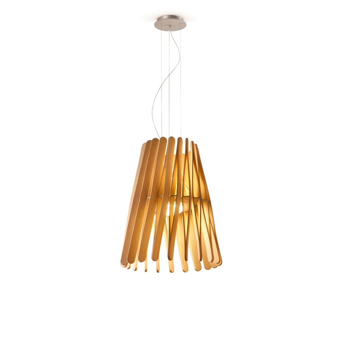 Fabbian Stick Cono Pendelleuchte LED (Platine), Holz