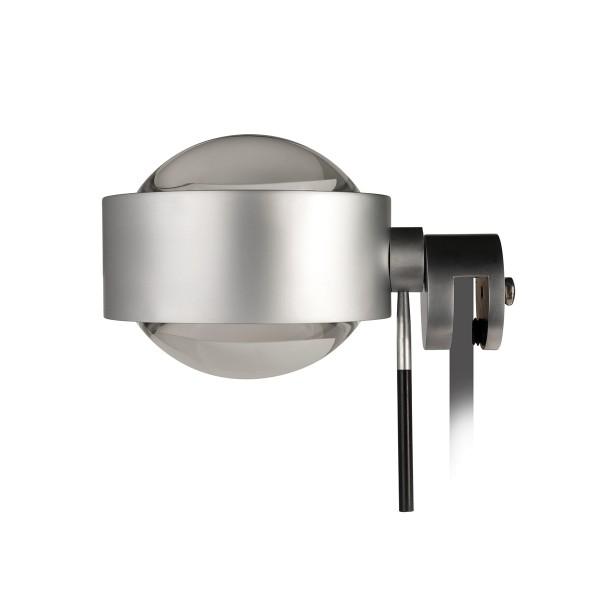 Top Light Puk Fix + LED Klemmleuchte, Chrom matt, Linse klar / Linse klar