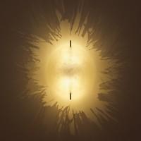 PostKrisi LED 21 / 40 Wandleuchte, Ø: 21 cm, LED warm-weiß, Schirm: natur, Halterung: Nickel