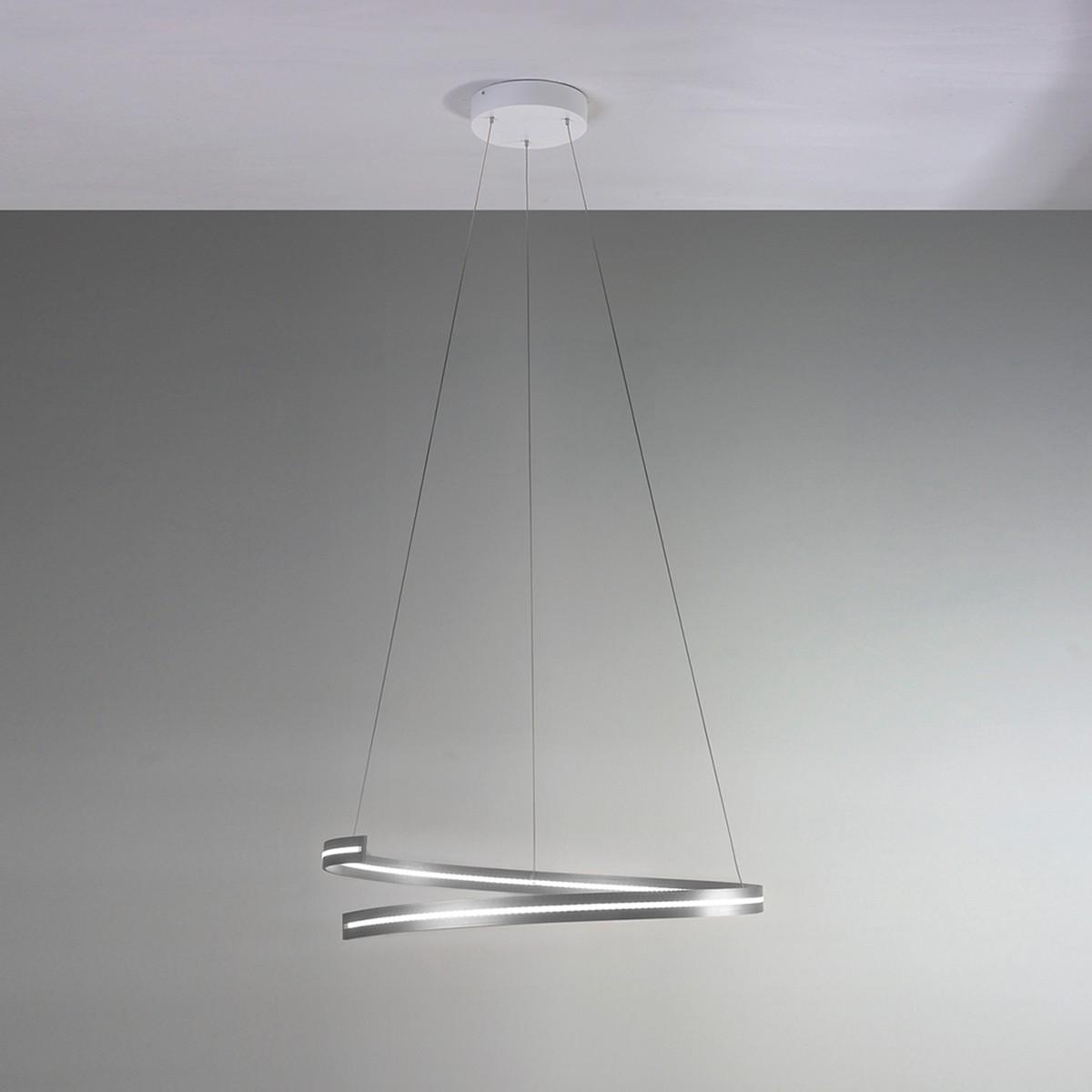 Bopp Break LED Pendelleuchte Ø: 70 cm, Aluminium geschliffen