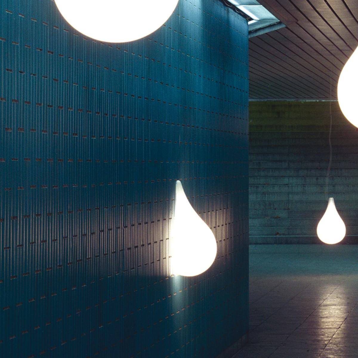 next Liquid Light Drop 3 Wandleuchte, 47 cm, weiß