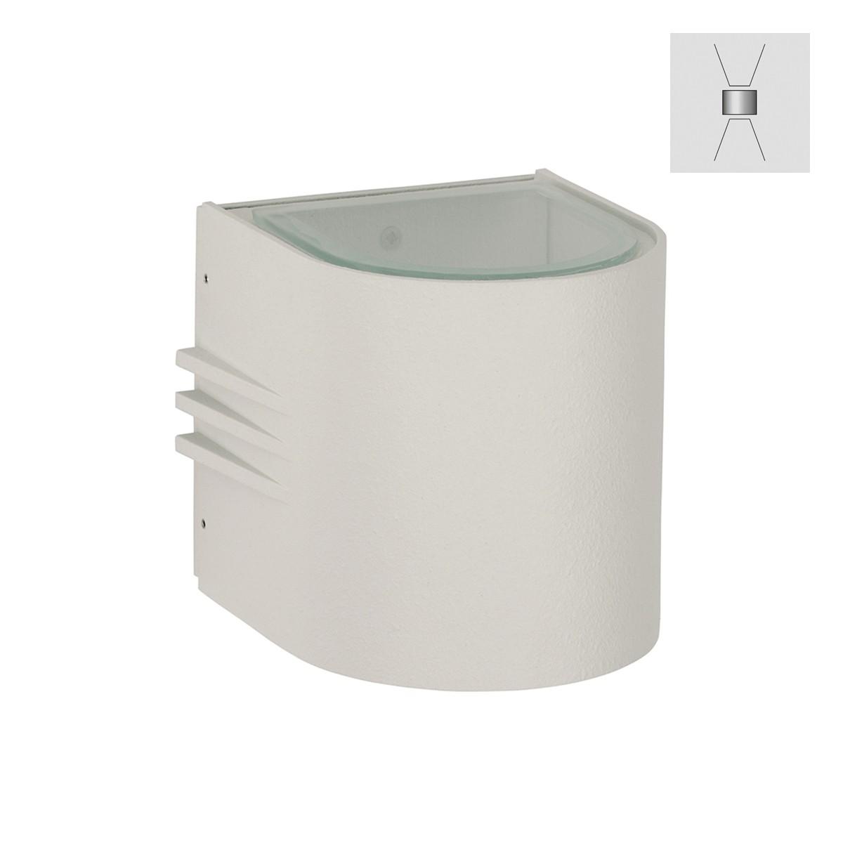 Albert 2308 Wandstrahler, breit/breit, weiß