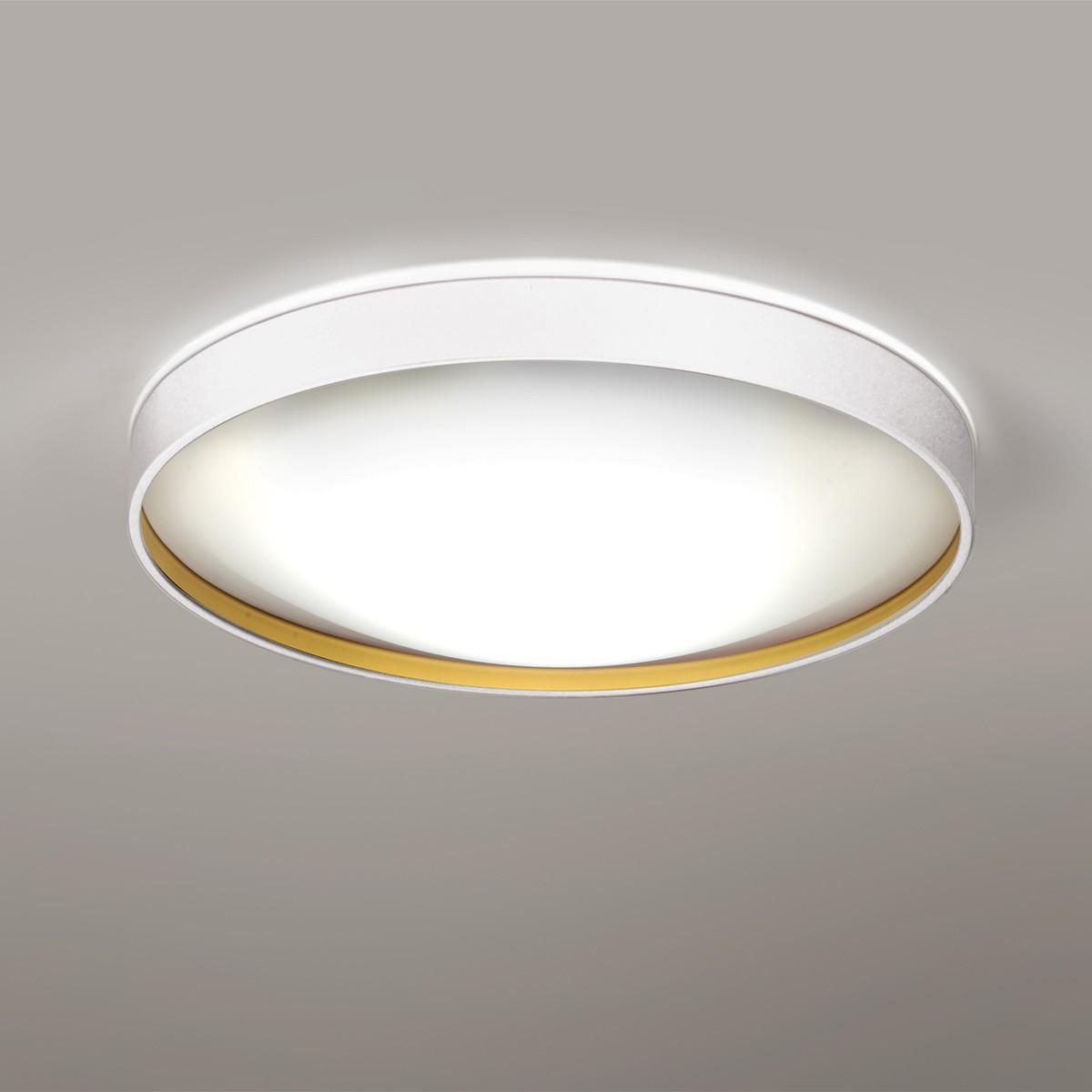 Milan Alina Deckenleuchte, Ø: 37 cm, weiß lackiert / Gold