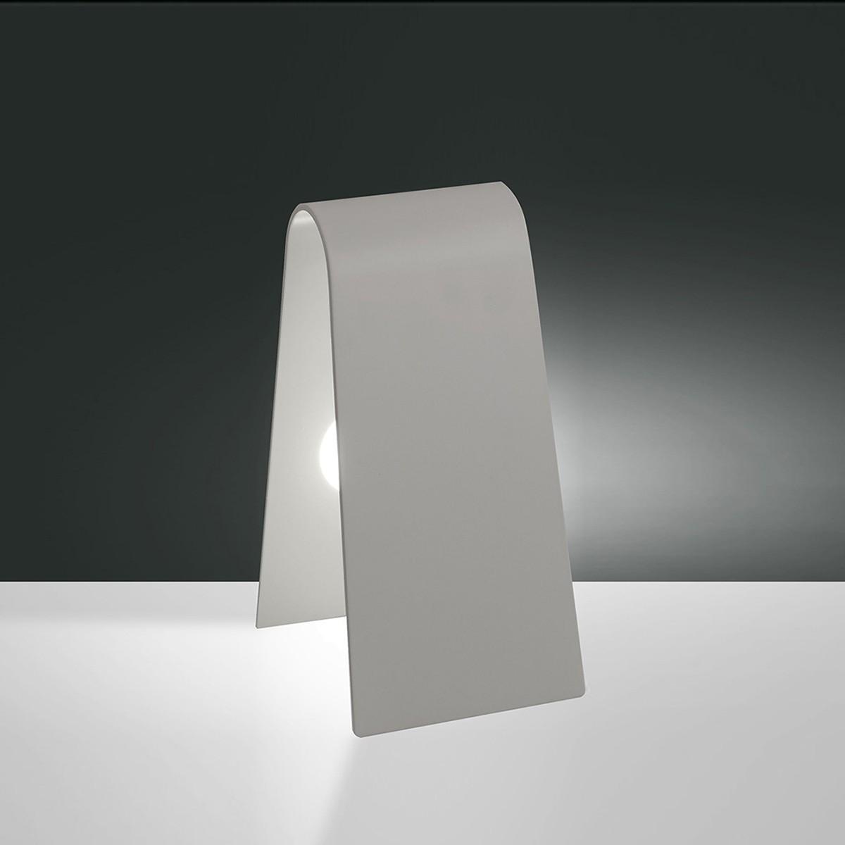 Fabas Luce Bend LED Tischleuchte, weiß