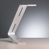 Tecnolumen Flad LED Tischleuchte, Aluminium silbergrau