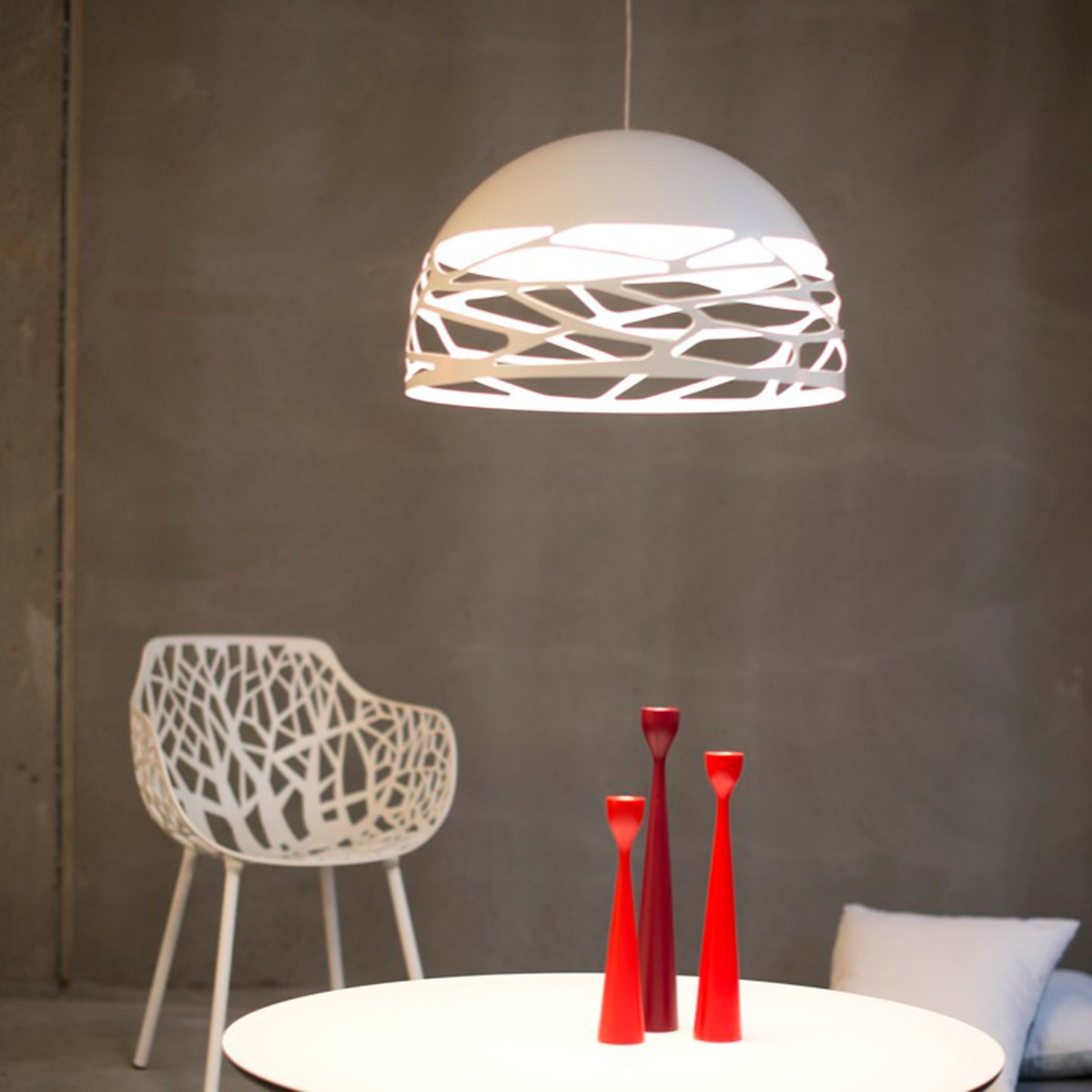 Studio Italia Design Kelly Small Dome 50 Pendelleuchte, weiß matt