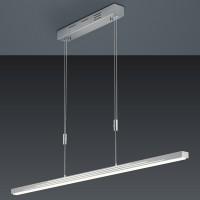 Bankamp Swing LED Pendelleuchte, Nickel matt / Chrom