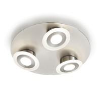 Knapstein Dara-R3 LED Deckenleuchte, Nickel matt