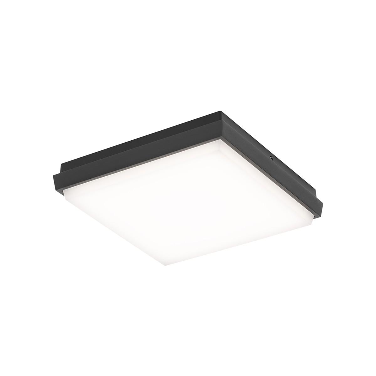 LCD Außenleuchten 5060/5061/5062 LED Wand- / Deckenleuchte, 17,5 x 17,5 cm, graphit