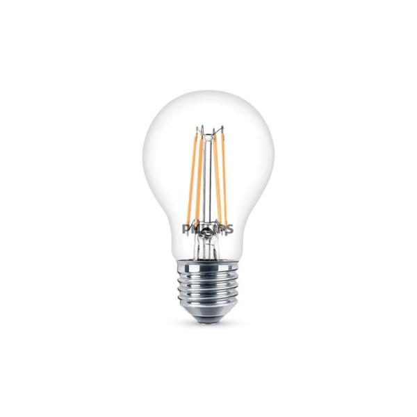 Philips LED Lampe E27 6 W, warmweiß, klar