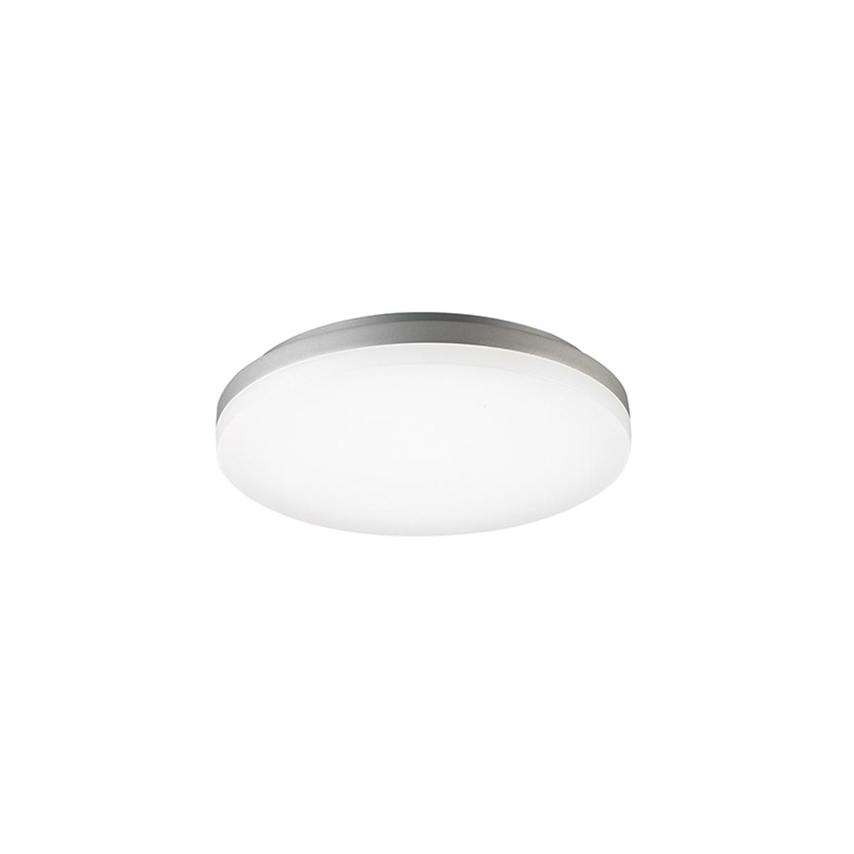 Sigor Circel LED Deckenleuchte IP44, Ø: 22 cm, 3000 K, Silber