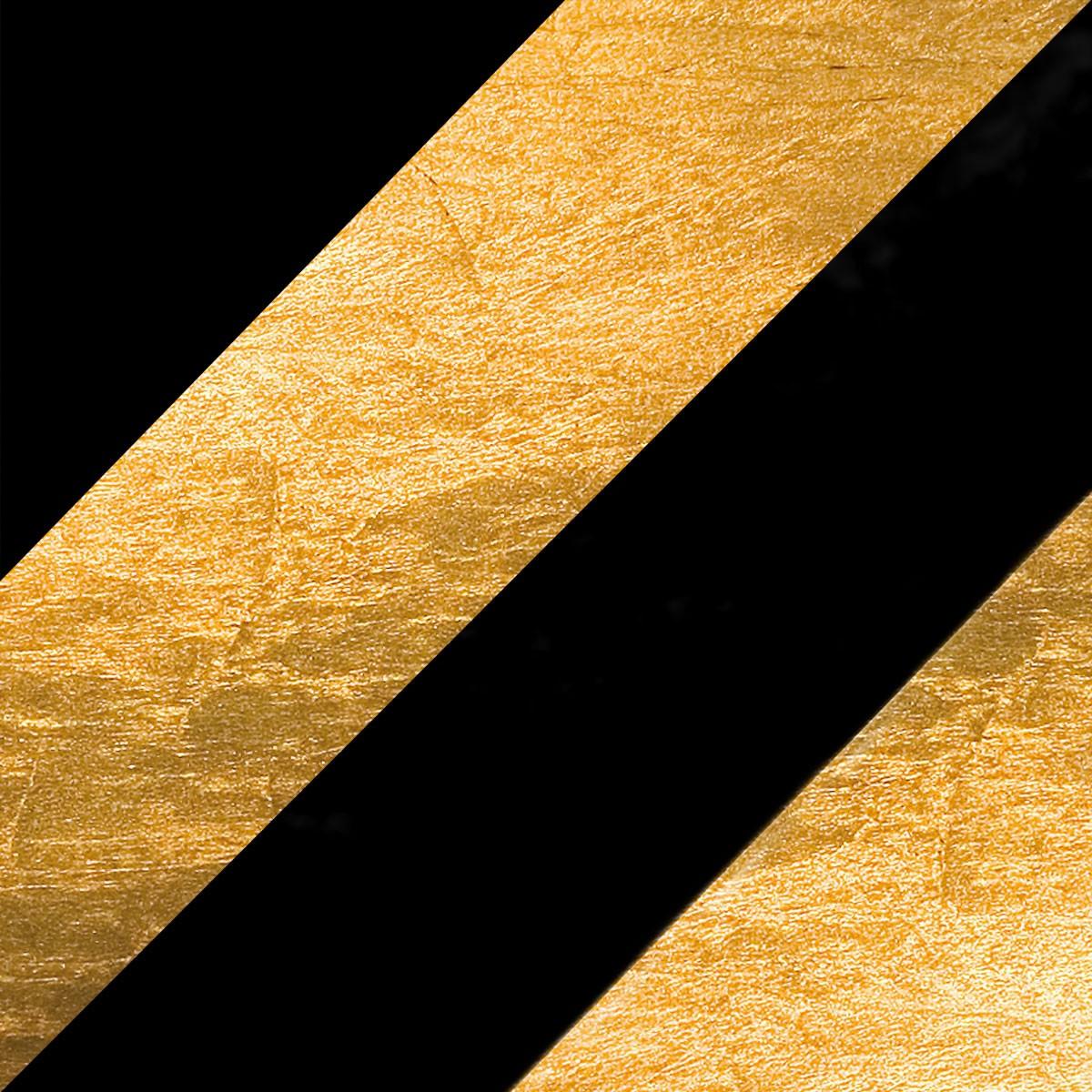 Catellani & Smith Lederam C180 Deckenleuchte, schwarz/Gold, Stange: schwarz, Scheibe: Gold