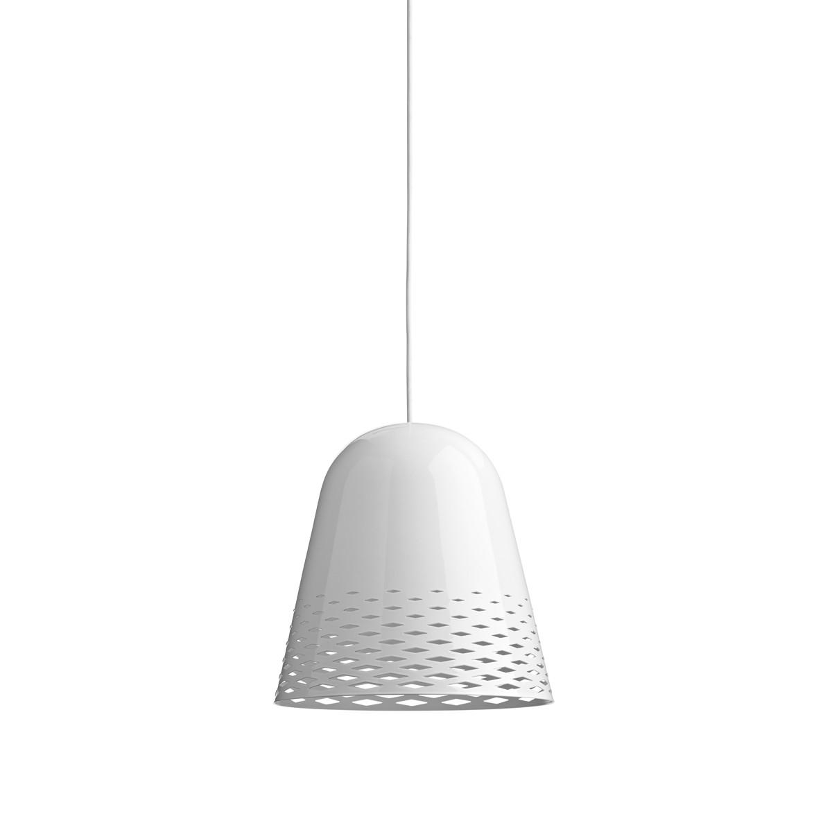 Rotaliana Capri H2 Pendelleuchte, Schirm: weiß glänzend, innen weiß matt, Kabel: weiß
