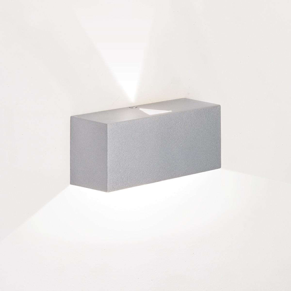 Milan Mini Wandleuchte, Höhe: 5,1 cm, grau lackiert