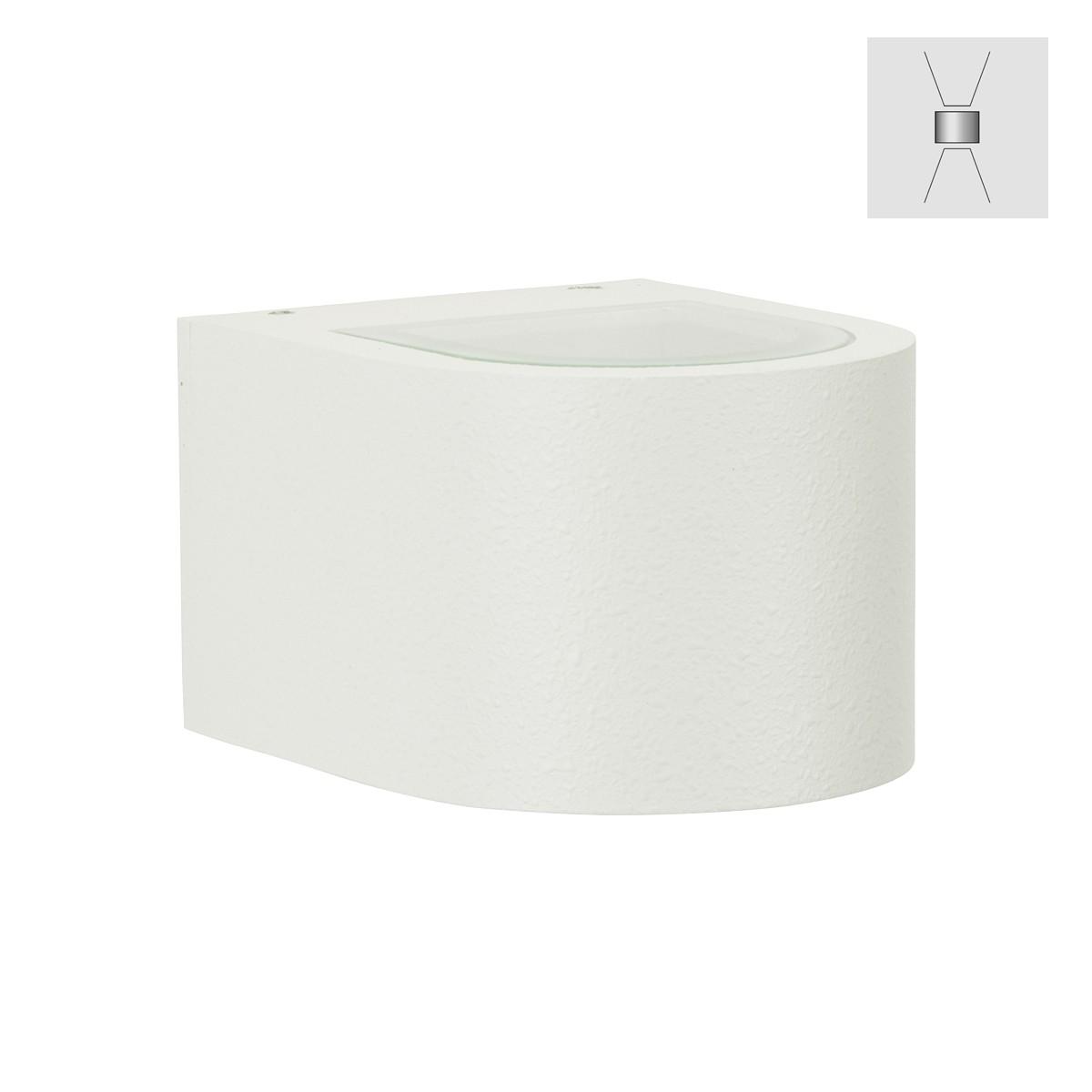 Albert 2340 Wandstrahler, breit/breit, weiß