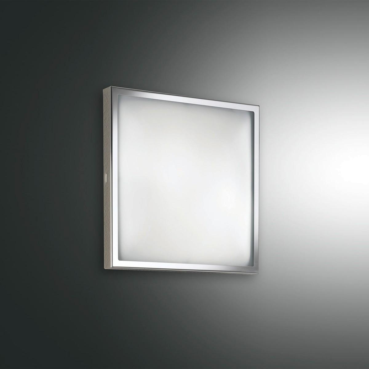 Fabas Luce Osaka Wandleuchte, 22 x 22 cm, Nickel satiniert