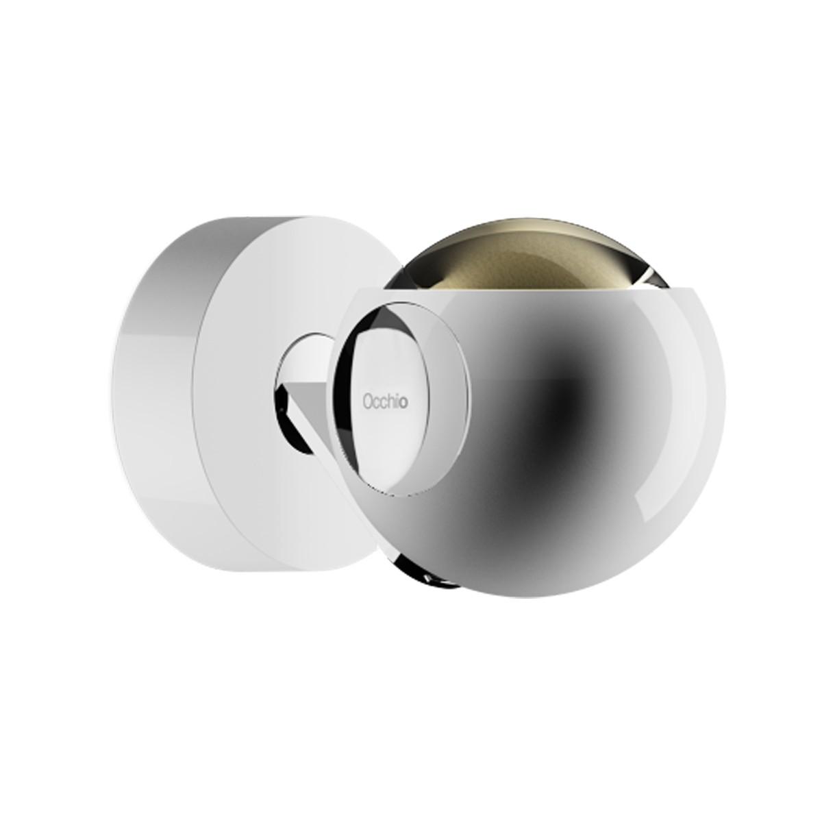 Occhio io 3d pico up C Wand- / Deckenleuchte, 2700 K, weiß glänzend, pads und body Chrom