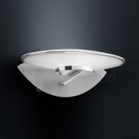 Sphere Wandleuchte, Nickel matt / Chrom