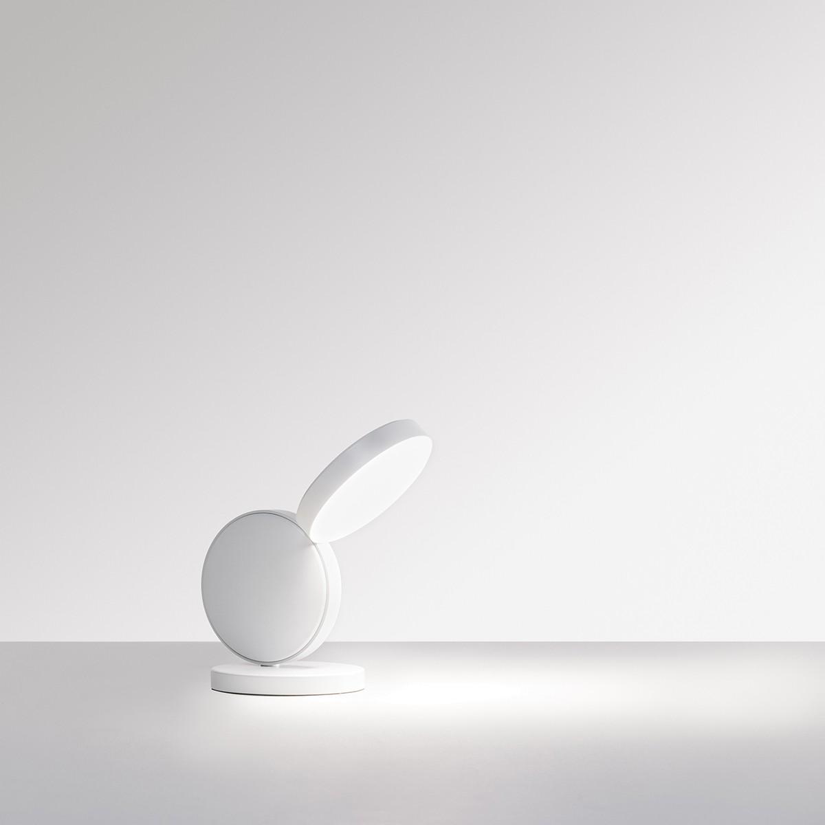 Fontana Arte Optunia LED Tischleuchte, Höhe: 24 cm, weiss