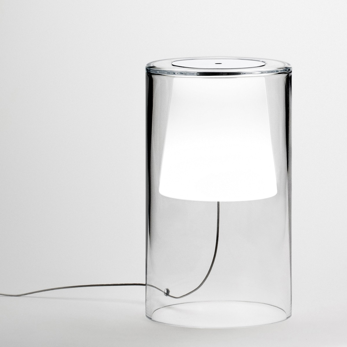 Vibia Join Tischleuchte, Höhe: 34 cm, Glas, mit Kabeldimmer