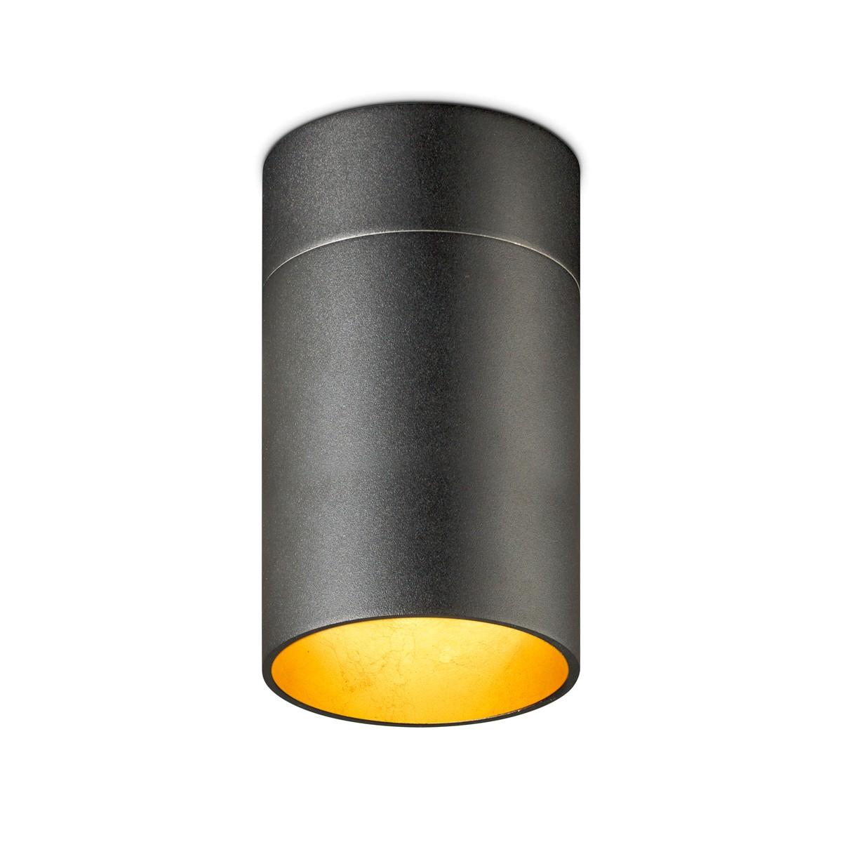 Oligo Tudor L Deckenleuchte, schwarz matt / Blattgold