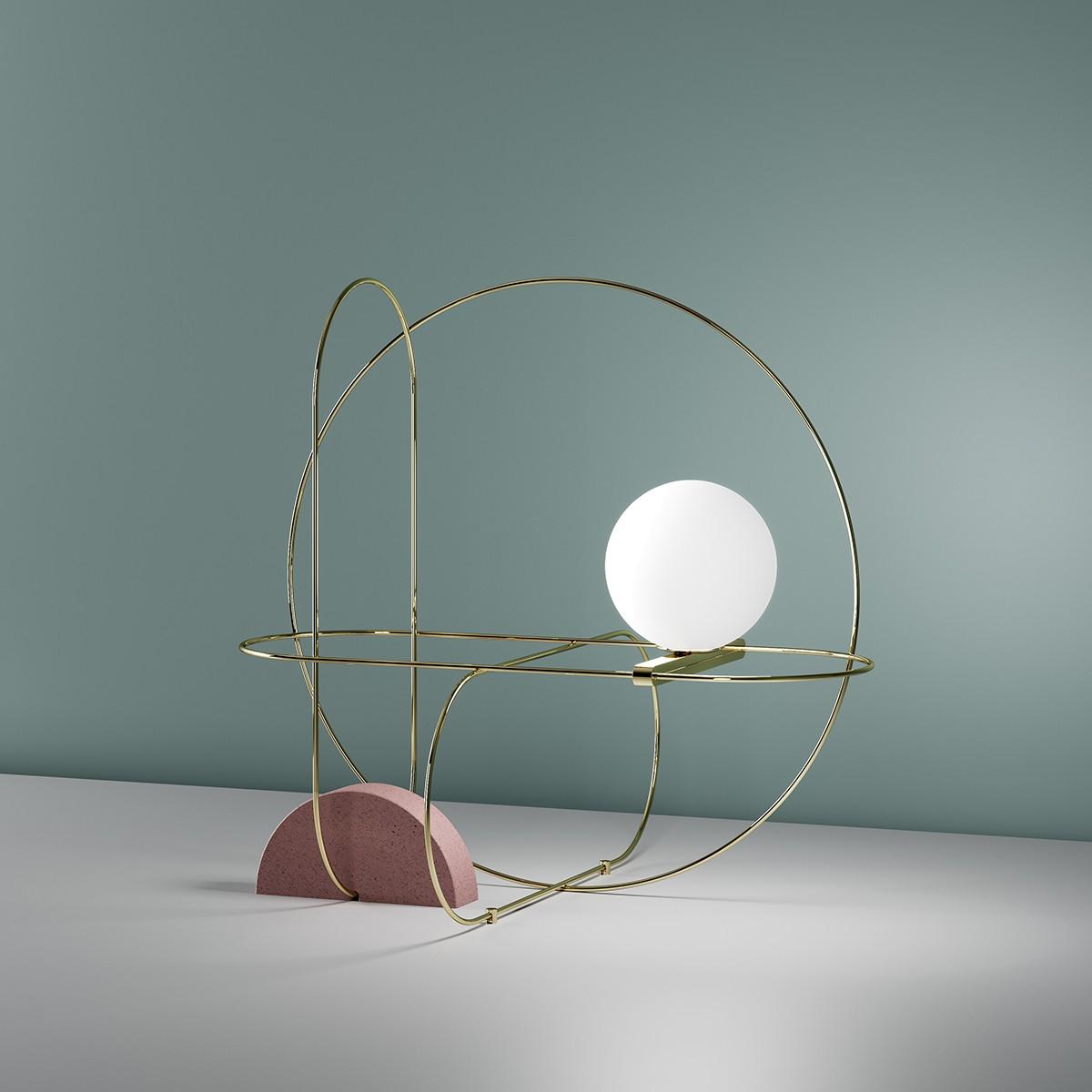 Fontana Arte Setareh 4401 LED Tischleuchte, Gold