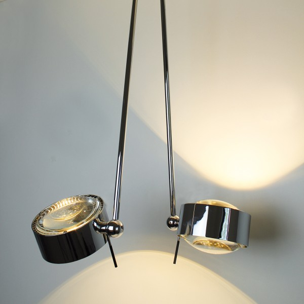 Top Light Puk Maxx Ceiling Sister Single LED, 100 cm, Chrom, Linse klar / Linse klar