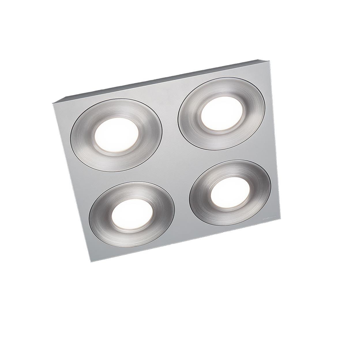 Grossmann Coax LED Deckenleuchte, 4-flg., quadratisch 75-820-088