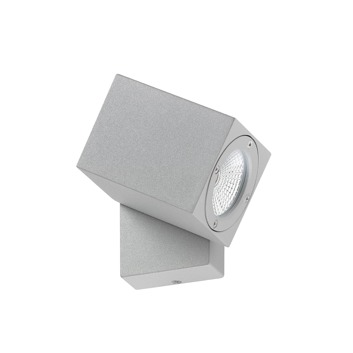 LCD Außenleuchten 5001 LED Wandleuchte, Aluminium silbern