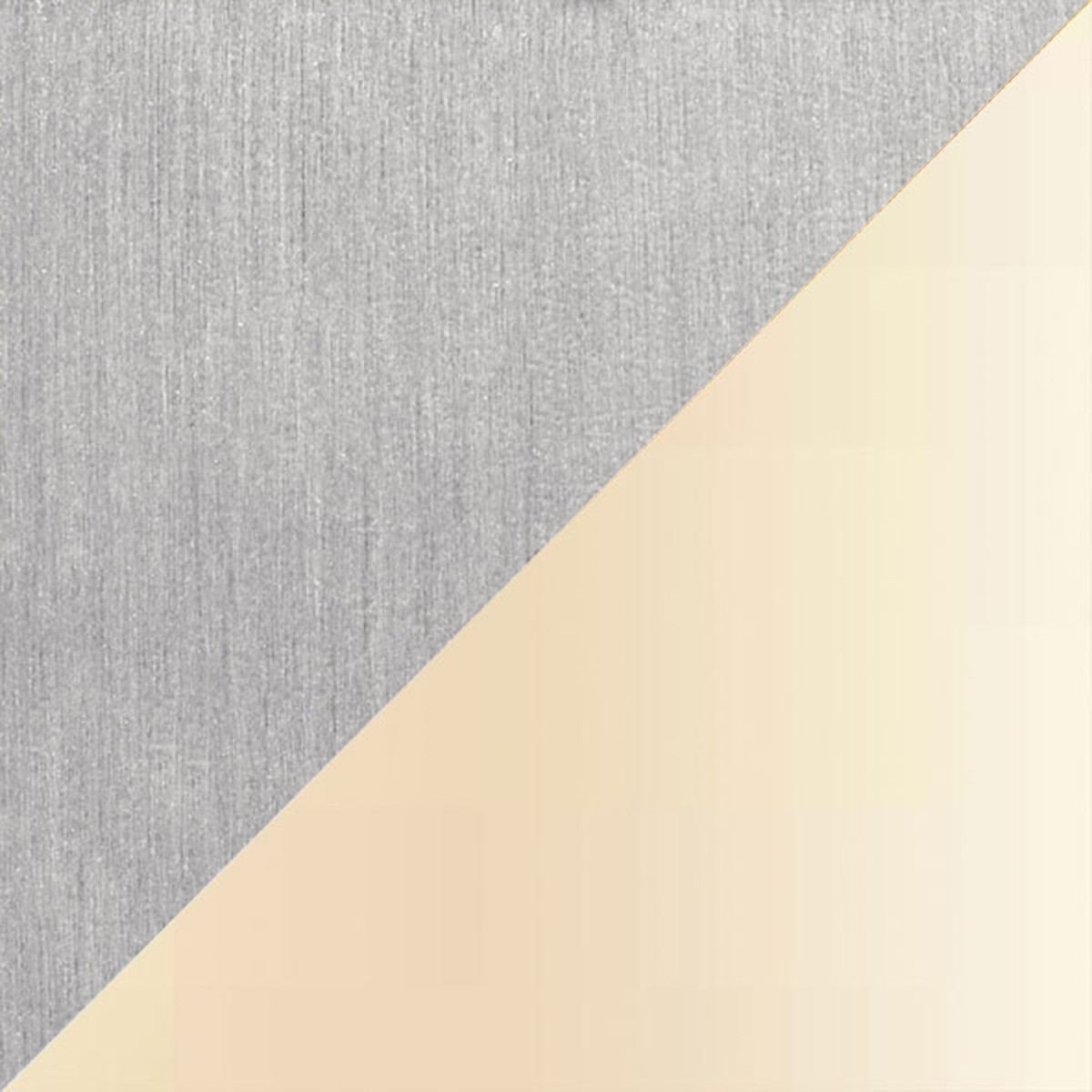 Holtkötter Leuchten Avus Stehleuchte, Aluminium matt, Chintz champagner