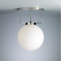 DMB 26 Bauhaus-Deckenleuchte, Ø: 25 cm, Gestell: Chrom glänzend, Glas: opalüberfangen