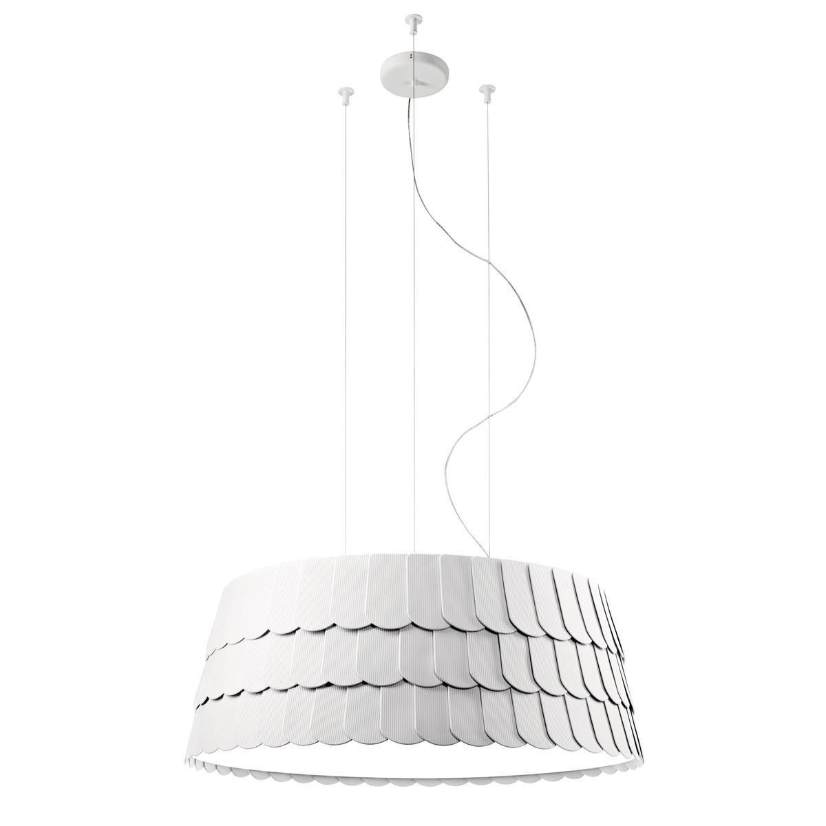 Fabbian Roofer Pendelleuchte, Ø: 79 cm, weiß