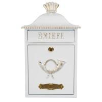 Mereno Briefkasten, weiß / Gold