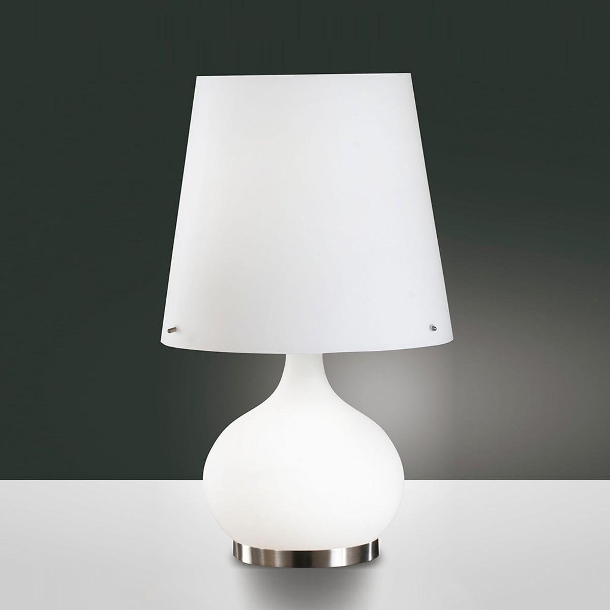 Fabas Luce Ade Tischleuchte, Höhe: 54 cm, weiß